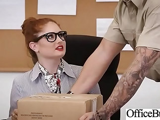 Monster tits of lesbian girl are nailed hard in this hardcore video