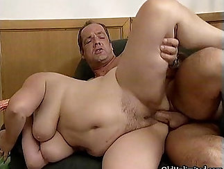 Chubby mature hottie filmed fucking and ride