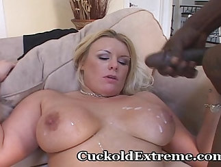 Cuckold husband pair with his new wife to fuck