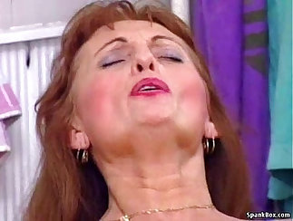 Blonde Granny Takes Great Turn On Cock