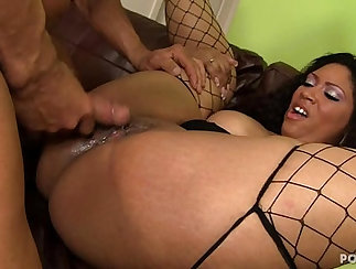 Busty girl next door anal fucks with end boy and tight white