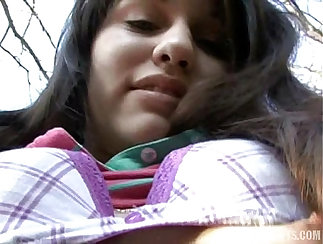 Attractive Czech girl gets DPd while sucking a splendid dick in pov