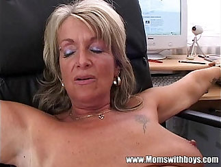 Blondie at bust from office anal sex