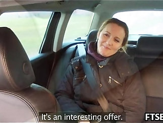 Assfucked on the table in a fake taxi