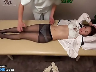 Barely legal Japanese girl gets a special massage