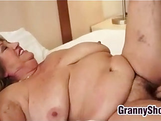 Chained grandma is getting tongued at a pool of warm piss