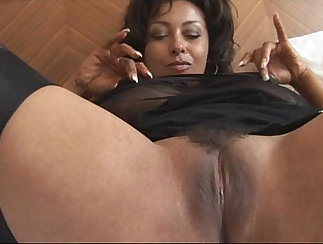 Busty slutty mature in stockings
