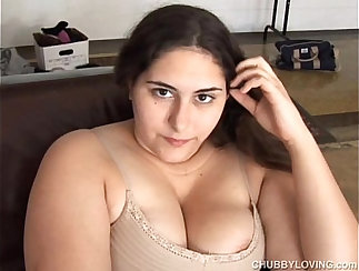 Big Tits Brunette with Fat Pussy