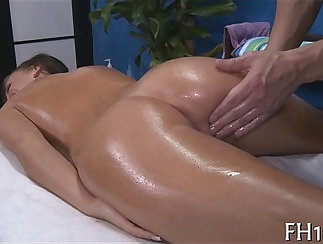 very cute mature woman is given a delicate massage