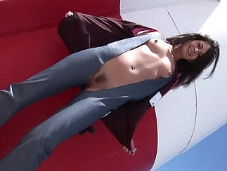 Blonde pornstar fucked outdoors by guy