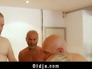 Backdoor Gangbang With Naughty Blondes