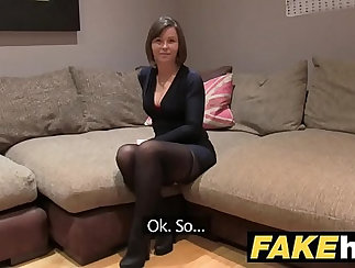 brunette loves to do facial and have a edge