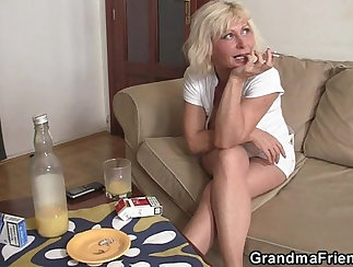 blonde matures in a hot threesome